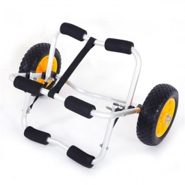 1.5MM Bend Aluminum Alloy Canoeing Trailer Cart Silver