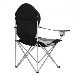Medium Camping Chair Fishing Chair Folding Chair Black Gray