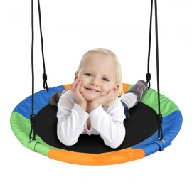900D Oxford Cloth Round Swing Diameter 100cm Three Colors (With Hook / Swing Belt / Bunting)