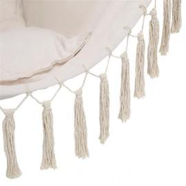 Pillow Tassel Hanging Chair Beige