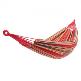 200*150cm Portable Polyester & Cotton Hammock Red Strip