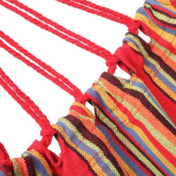 200*150cm Portable Polyester & Cotton Hammock Red Strip