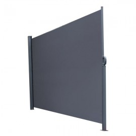 [US-W]Outdoor Aluminum Handle Pentacle Side Pull Shed Office Partition Cafe Terrace Windshield Isolation Canopy  Dark Gray