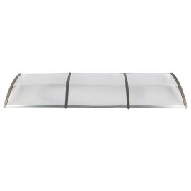 [US-W]HT-300 x 100 Household Application Door & Window Rain Cover Eaves Transparent Board & Gray Holder