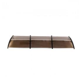 [US-W]HT-300 x 100 Household Application Door & Window Rain Cover Eaves Brown Board & Black Holder