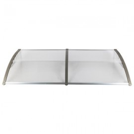 HT-190 x 100 Household Application Door & Window Rain Cover Eaves Canopy Silver & Gray Bracket