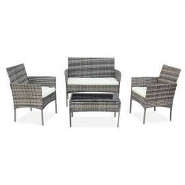 OSHION Outdoor Living Room Balcony Rattan Furniture Four-Piece-Gray