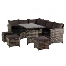 Oshion 9 Seat Rattan Furniture Outdoor Sofa Dining..