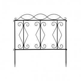 "24*24"" Wave Top Iron Art Garden Fence"
