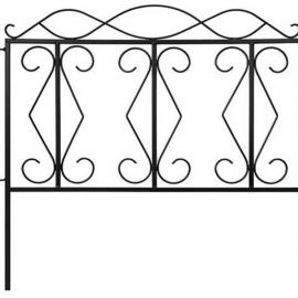 "24*24"" Wave Top Iron Art Garden Fence"