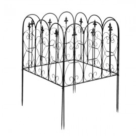 Fashionable And Beautiful Oval Top Iron Art Garden Fence