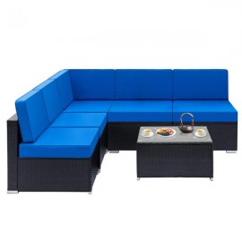Fully Equipped Weaving Rattan Sofa Set with 1pcs C..